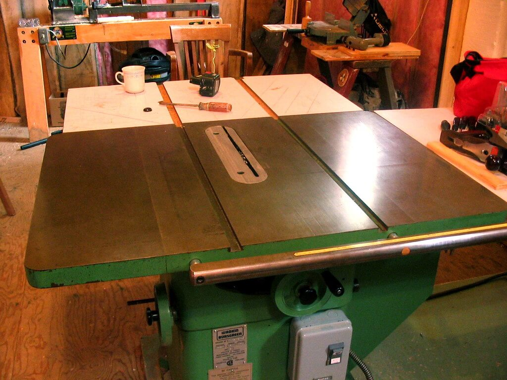 table saw height